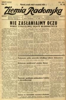 Ziemia Radomska, 1933, R. 6, nr 199