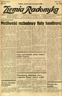 Ziemia Radomska, 1933, R. 6, nr 203