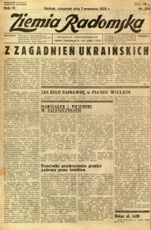 Ziemia Radomska, 1933, R. 6, nr 204
