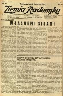 Ziemia Radomska, 1933, R. 6, nr 206