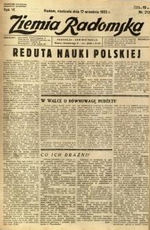 Ziemia Radomska, 1933, R. 6, nr 213