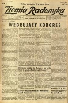 Ziemia Radomska, 1933, R. 6, nr 214