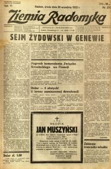 Ziemia Radomska, 1933, R. 6, nr 215