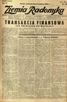Ziemia Radomska, 1933, R. 6, nr 216