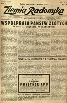 Ziemia Radomska, 1933, R. 6, nr 218
