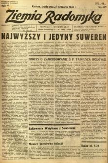 Ziemia Radomska, 1933, R. 6, nr 221