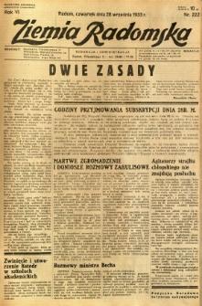 Ziemia Radomska, 1933, R. 6, nr 222