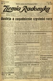 Ziemia Radomska, 1933, R. 6, nr 224