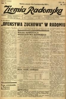 Ziemia Radomska, 1933, R. 6, nr 226