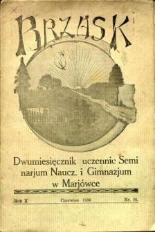 Brzask: Dwumiesięcznik uczennic Seminarium Nauczycielskiego w Mariówce, 1936, R. 10, nr 36