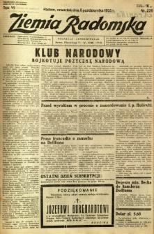 Ziemia Radomska, 1933, R. 6, nr 228