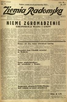 Ziemia Radomska, 1933, R. 6, nr 229