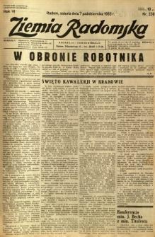 Ziemia Radomska, 1933, R. 6, nr 230