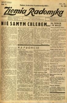 Ziemia Radomska, 1933, R. 6, nr 233