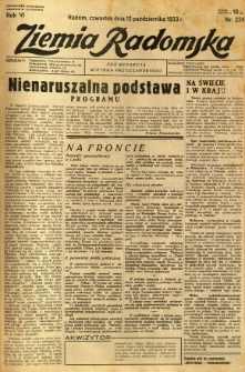 Ziemia Radomska, 1933, R. 6, nr 234