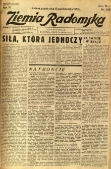 Ziemia Radomska, 1933, R. 6, nr 235