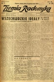 Ziemia Radomska, 1933, R. 6, nr 236