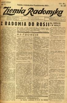 Ziemia Radomska, 1933, R. 6, nr 237