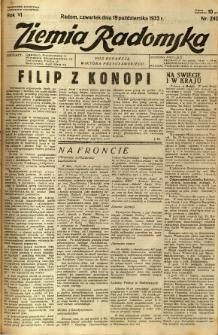 Ziemia Radomska, 1933, R. 6, nr 240