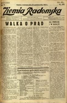 Ziemia Radomska, 1933, R. 6, nr 243