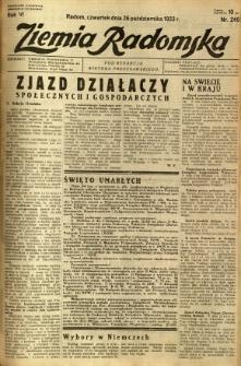 Ziemia Radomska, 1933, R. 6, nr 246