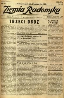 Ziemia Radomska, 1933, R. 6, nr 249