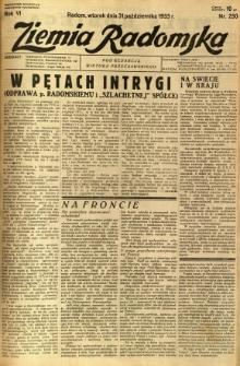 Ziemia Radomska, 1933, R. 6, nr 250