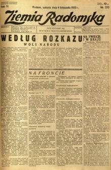 Ziemia Radomska, 1933, R. 6, nr 253