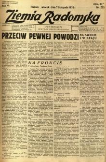 Ziemia Radomska, 1933, R. 6, nr 255
