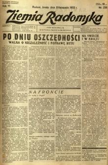Ziemia Radomska, 1933, R. 6, nr 256
