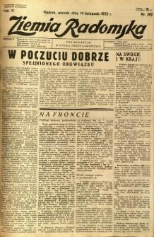 Ziemia Radomska, 1933, R. 6, nr 260