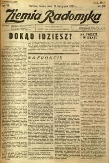 Ziemia Radomska, 1933, R. 6, nr 261