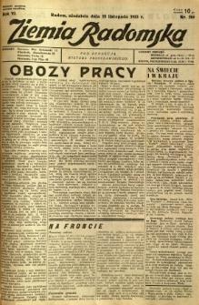 Ziemia Radomska, 1933, R. 6, nr 265