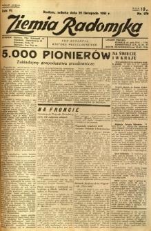 Ziemia Radomska, 1933, R. 6, nr 270