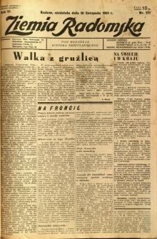 Ziemia Radomska, 1933, R. 6, nr 271