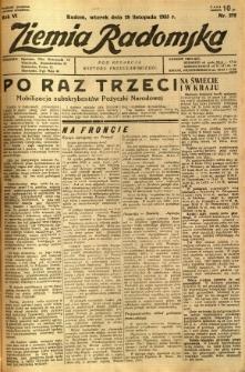 Ziemia Radomska, 1933, R. 6, nr 272