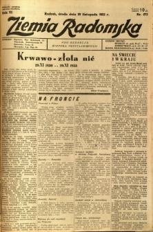 Ziemia Radomska, 1933, R. 6, nr 273