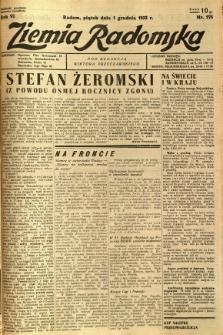 Ziemia Radomska, 1933, R. 6, nr 275