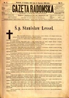 Gazeta Radomska, 1888, R. 5, nr 3