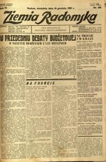 Ziemia Radomska, 1933, R. 6, nr 282