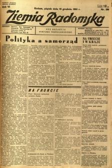 Ziemia Radomska, 1933, R. 6, nr 286