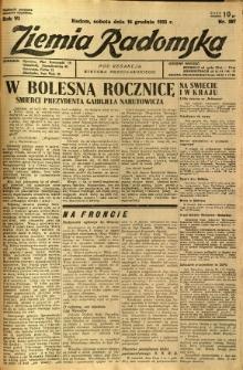 Ziemia Radomska, 1933, R. 6, nr 287