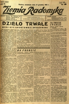 Ziemia Radomska, 1933, R. 6, nr 288