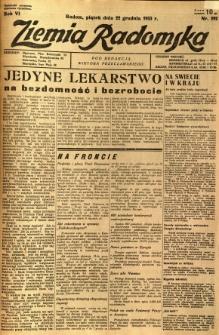 Ziemia Radomska, 1933, R. 6, nr 292