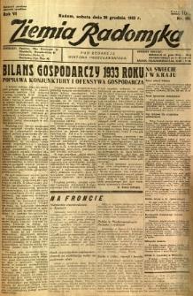 Ziemia Radomska, 1933, R. 6, nr 296