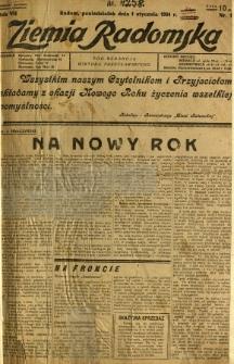 Ziemia Radomska, 1934, R. 7, nr 1