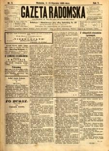 Gazeta Radomska, 1888, R. 5, nr 5