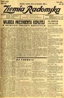 Ziemia Radomska, 1934, R. 7, nr 10