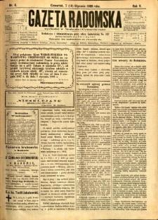 Gazeta Radomska, 1888, R. 5, nr 6