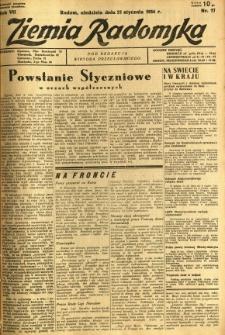 Ziemia Radomska, 1934, R. 7, nr 17